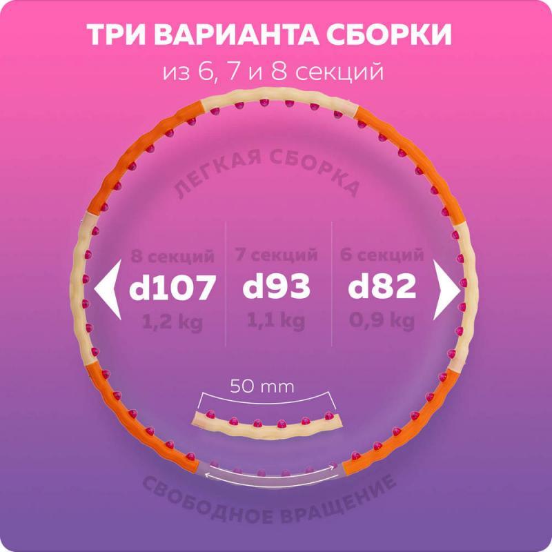 Обруч с магнитами Magnetic Health Hoop III (1,2 кг) фото