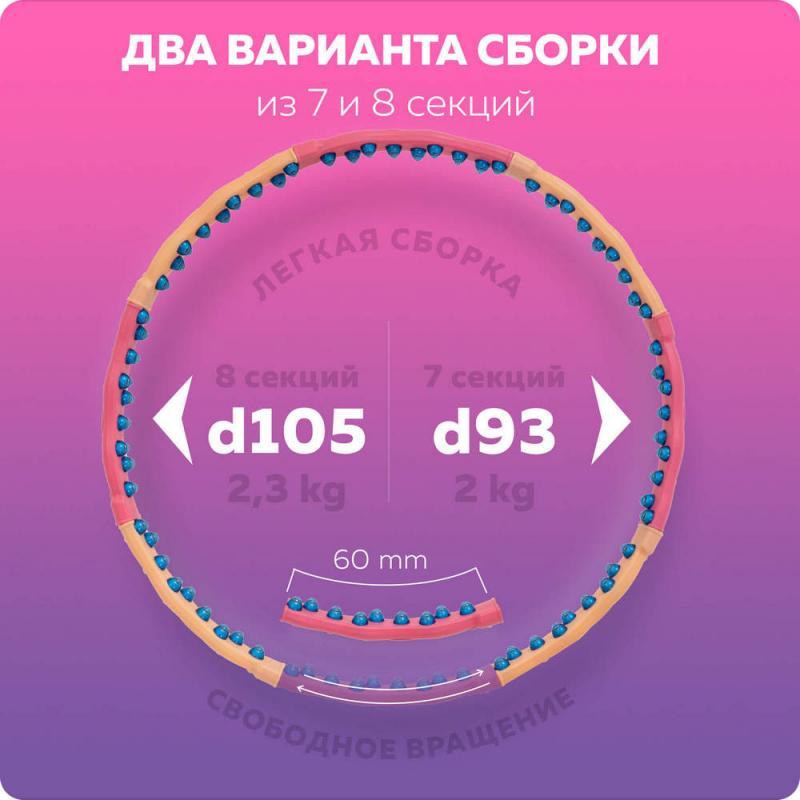 Обруч с массажными элементами DYNAMIC W (2,3 кг) фото