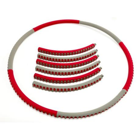 Мягкий хулахуп Fashion Hula Hoop, красно-серый, (1 кг)