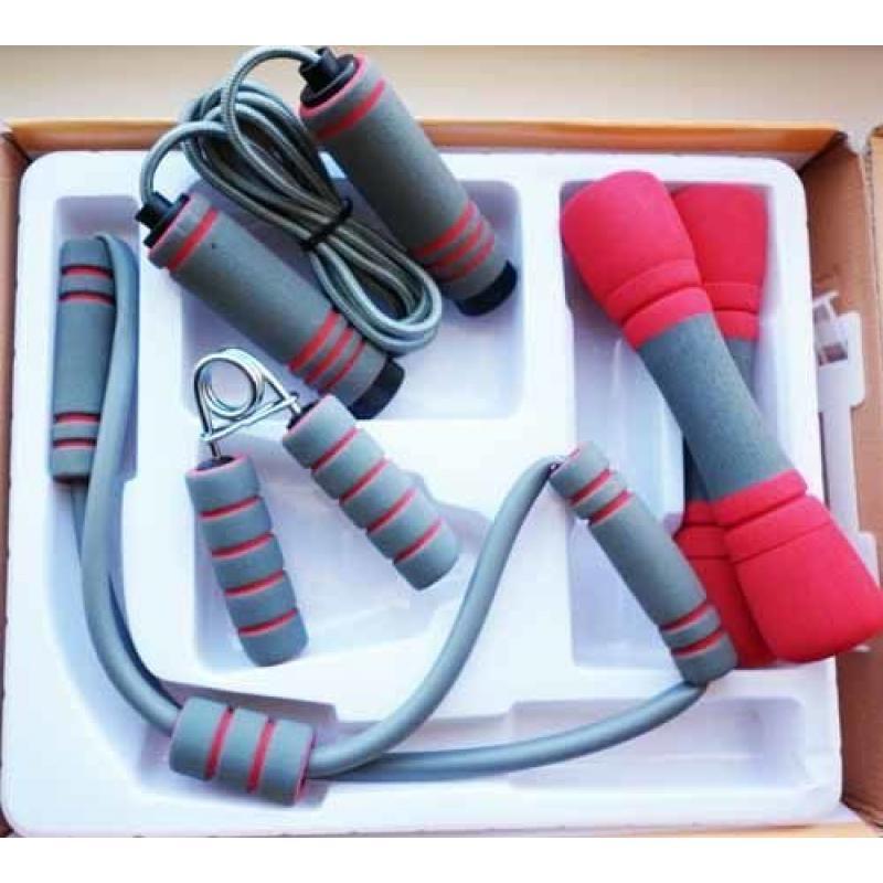 Набор эспандеров (эспандер резиновый 3 пружины, эспандер восьмерка) фото