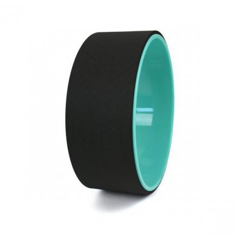 Колесо для йоги 33х12см гладкий (черный/бирюзовый)