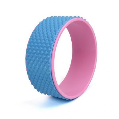Колесо для йоги 33х12см массажный (розово/фиолетовый)