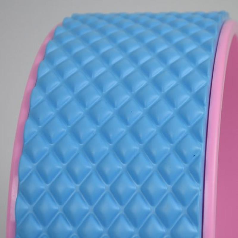 Колесо для йоги 33х12см массажный (розово/фиолетовый) фото