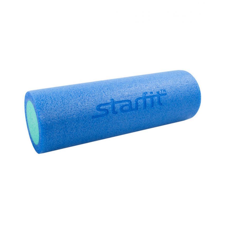 Ролик для йоги и пилатеса Star Fit FA-501, 15х45 см, синий/голубой