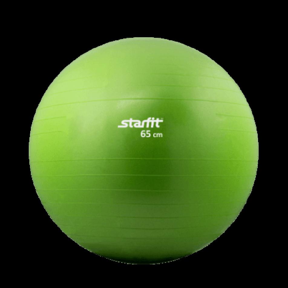 Фитбол Starfit GB-104, 65 см, без насоса, зеленый, антивзрыв