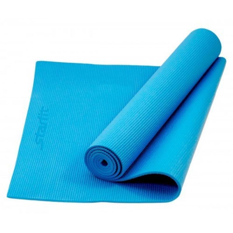 Коврик для йоги 173x61x1,0 см, синий STARFIT фото