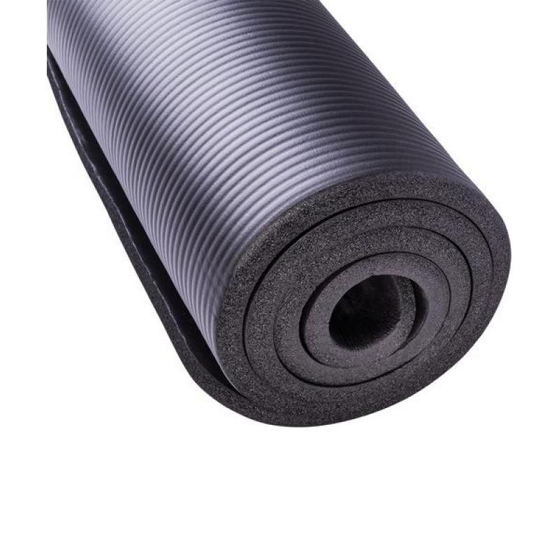 Коврик для йоги NBR, 183x58x1,5 см, черный STARFIT фото
