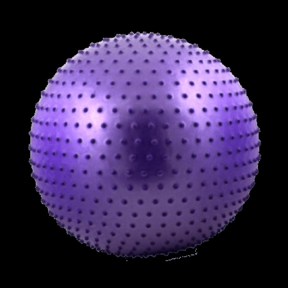 Мяч гимнастический массажный 65 см, антивзрыв, фиолетовый STARFIT