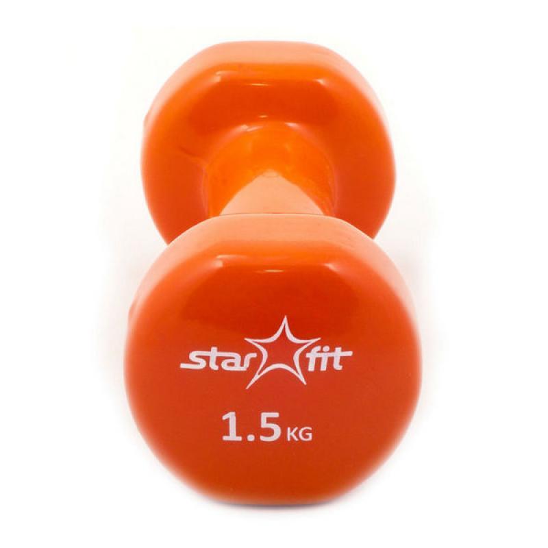 Виниловые гантели Star Fit 1,5 кг фото