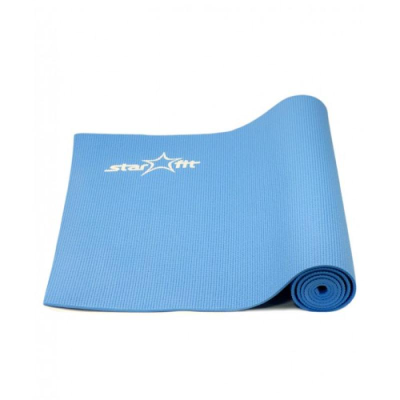 Коврик для йоги 173x61x0,6 см, синий STARFIT фото