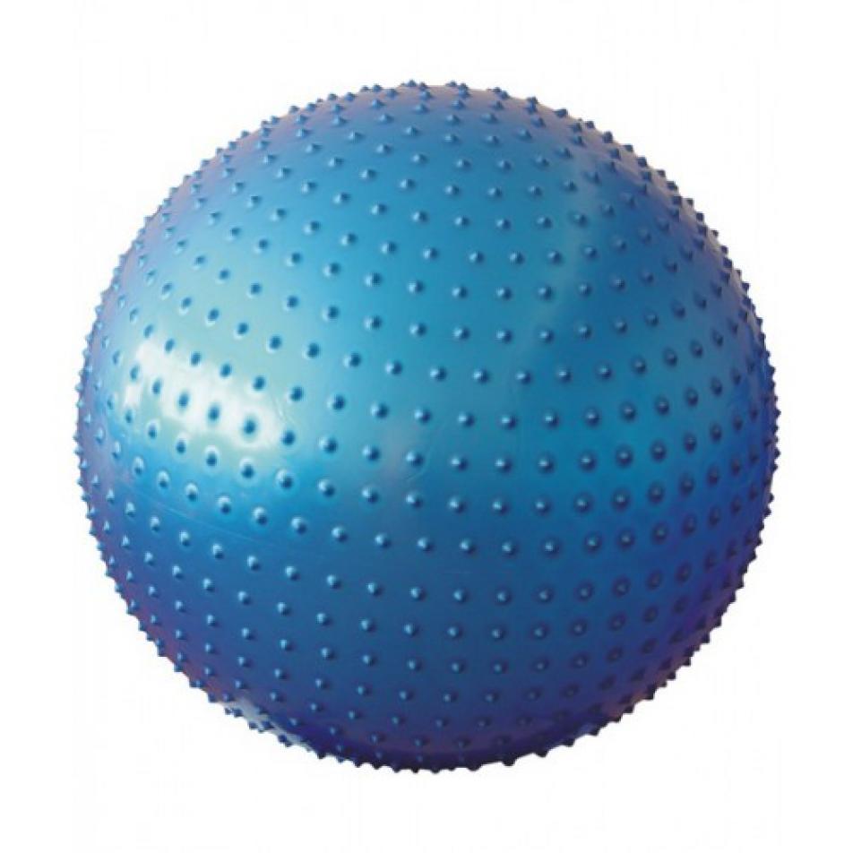 Мяч гимнастический массажный 55 см, антивзрыв, синий STARFIT