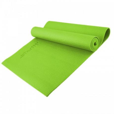 Коврик для йоги 173x61x0,4 см, зеленый STARFIT