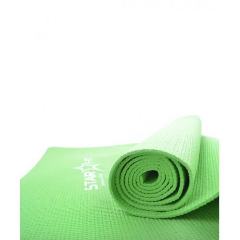 Коврик для йоги 173x61x0,4 см, зеленый STARFIT фото
