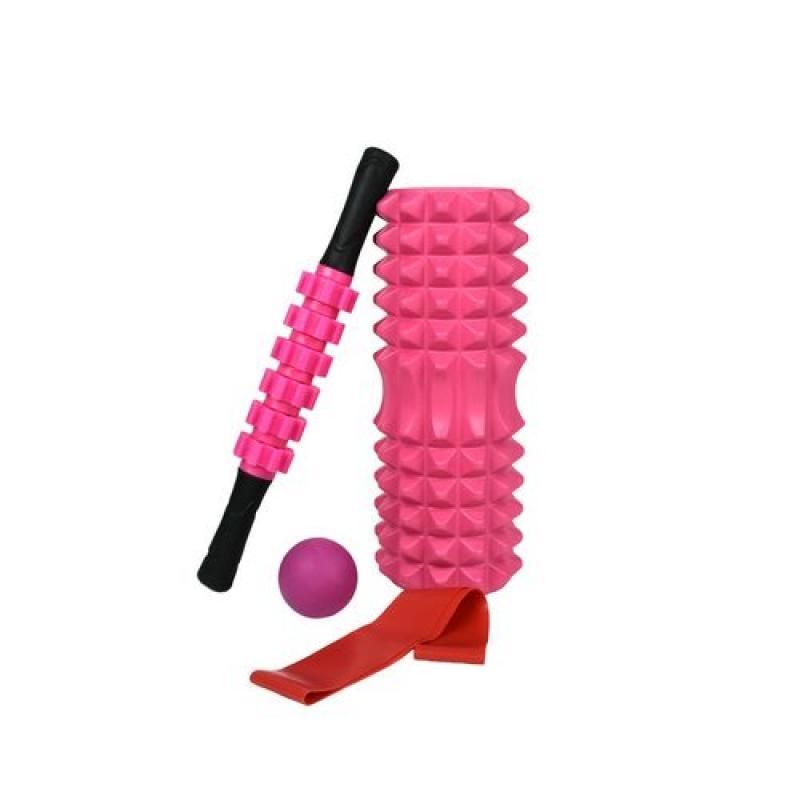 Набор для йоги (валик Strong S, массажер-палка, мяч, эспандер) в чехле фото