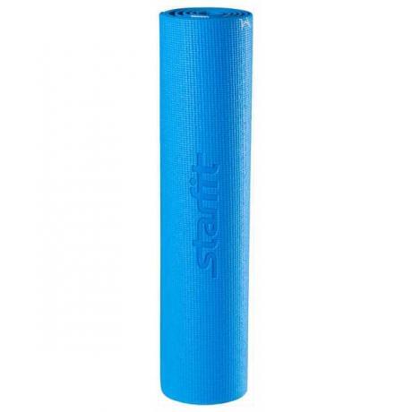 Коврик для йоги FM-102, PVC, 173x61x0,6 см, с рисунком, синий