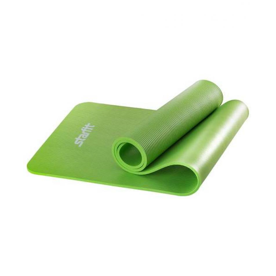 Коврик для йоги FM-301, NBR, 183x58x1,0 см, зеленый