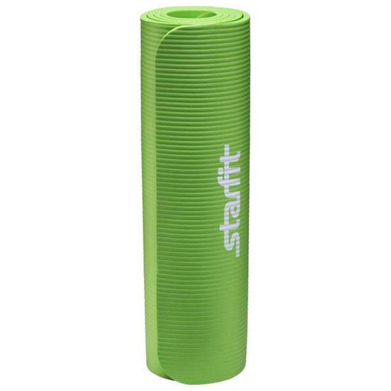 Коврик для йоги FM-301, NBR, 183x58x1,0 см, зеленый фото