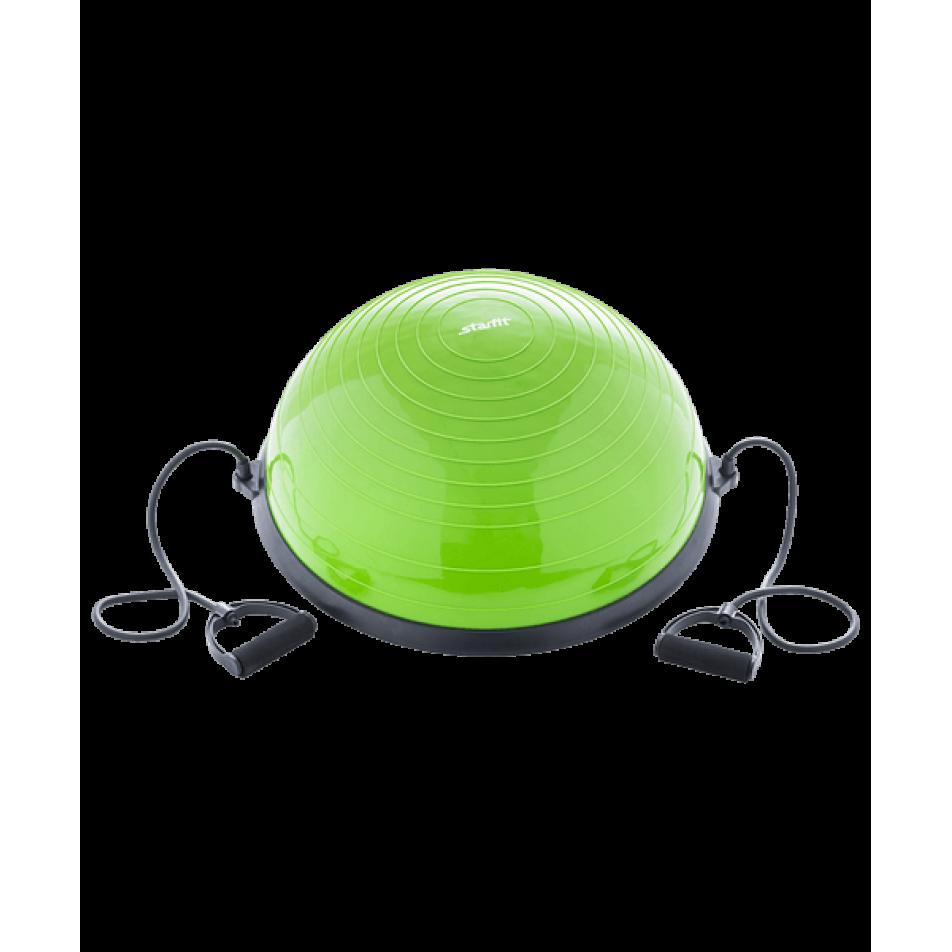 Полусфера BOSU GB-501 с эспандерами, с насосом, зеленыйStarfit