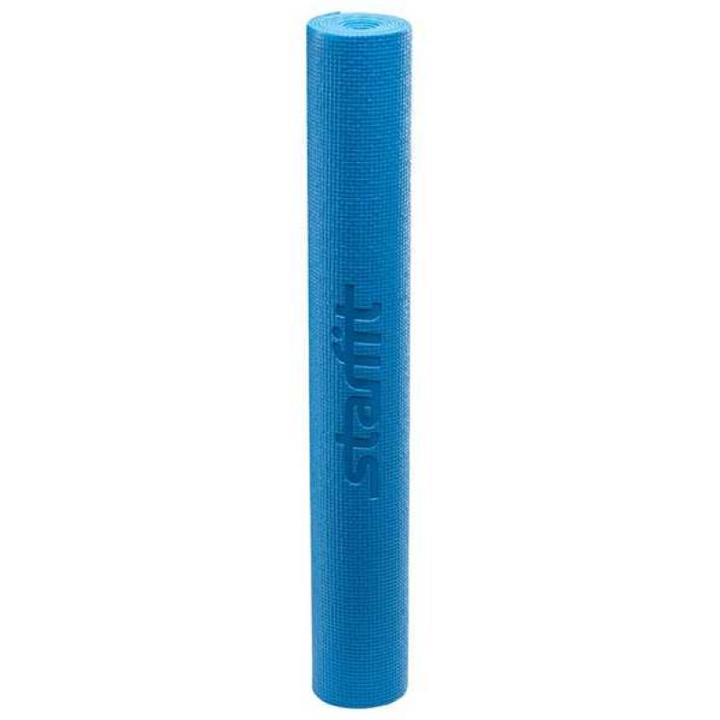 Коврик для йоги FM-101, PVC, 173x61x0,3 см, синий фото
