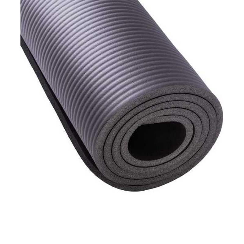 Коврик для йоги FM-301, NBR, 183x58x1,0 см, серый фото