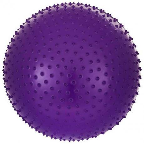 Мяч гимнастический массажный STARFIT 75 см, антивзрыв, фиолетовый