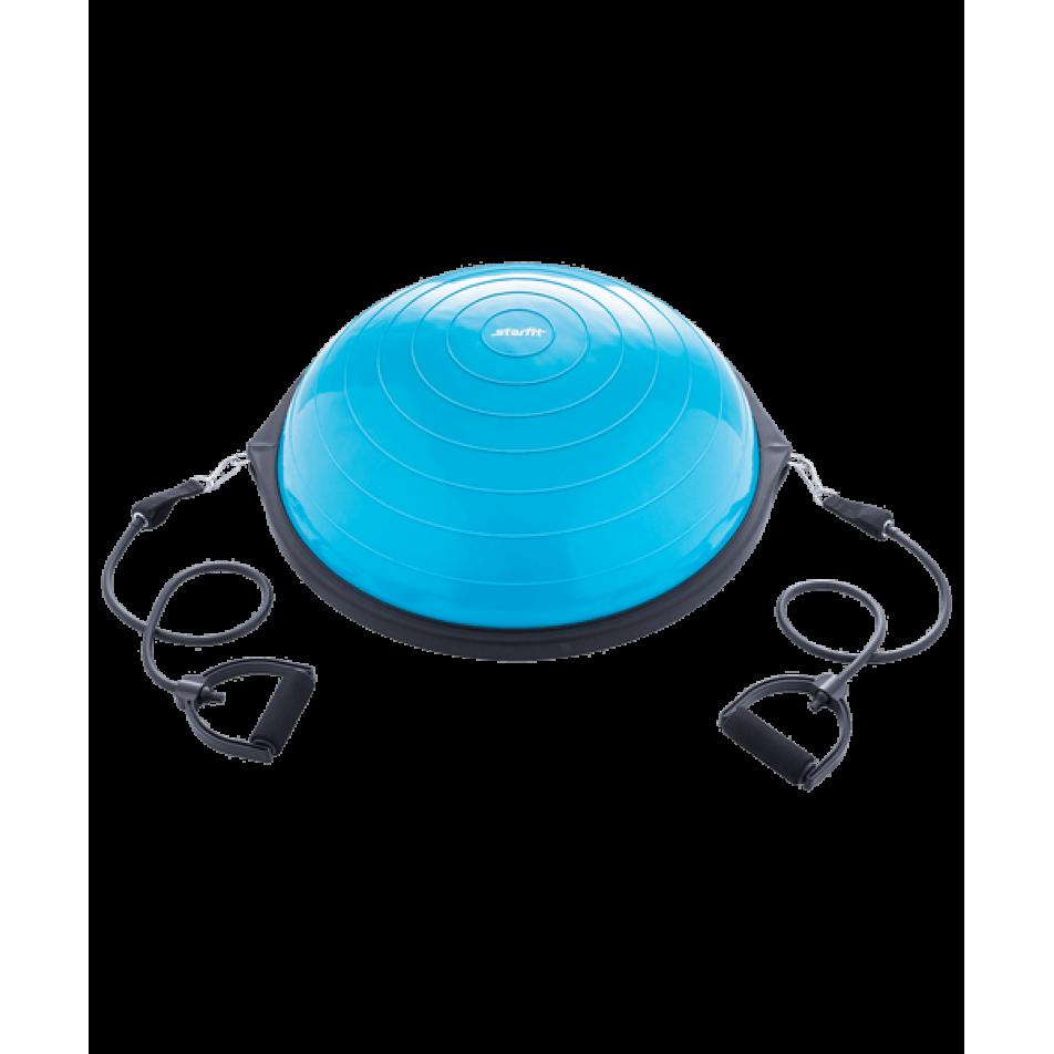Полусфера BOSU GB-502 PRO с эспандерами, с насосом, синийStarfit