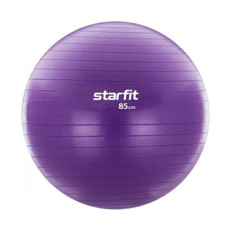 Фитбол антивзрыв GB-106, 85 см, с насосом, фиолетовый