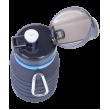 Бутылка для воды FB-100, с карабином, складная, сераяStarfit фото