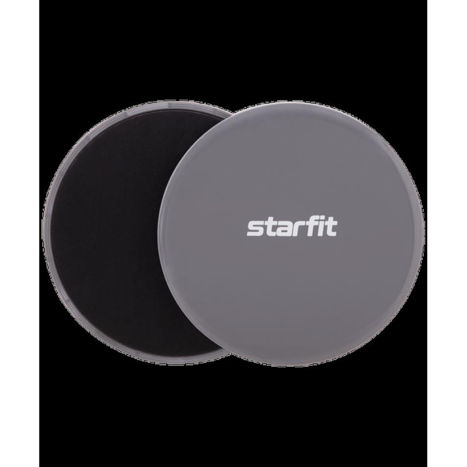 Слайдеры для фитнеса FS-101, серый/черныйStarfit