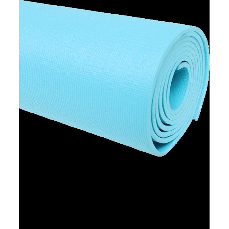 Коврик для йоги FM-103, PVC HD, 173x61x0,4 см, голубойStarfit фото