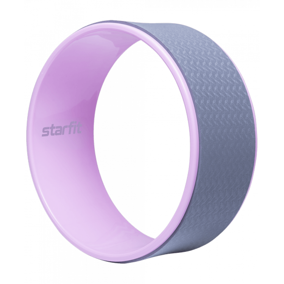 Колесо для йоги YW-101, 32 см, серо-розовый