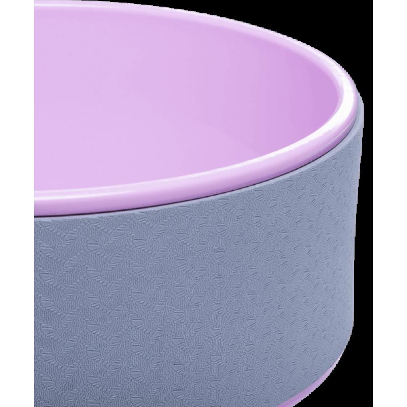 Колесо для йоги YW-101, 32 см, серо-розовый фото