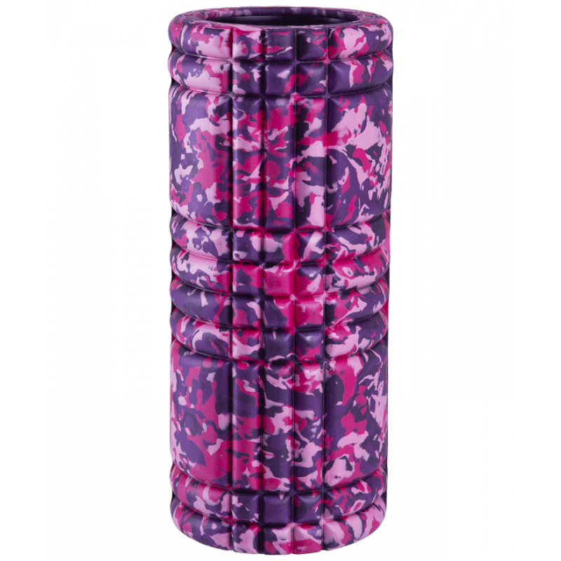 Ролик массажный FA-508, 33x14 cм, розовый камуфляж/черный фото