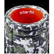 Ролик массажный FA-508, 33x14 cм, зеленый камуфляж/оранжевый фото
