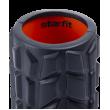 Ролик массажный FA-509, 33x13,5 cм, высокая жесткость, черный/оранжевый фотографии