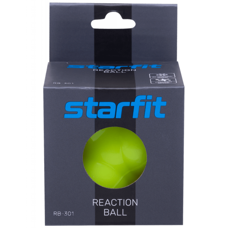 Мяч реакционный RB-301, ярко-зеленыйStarfit фото