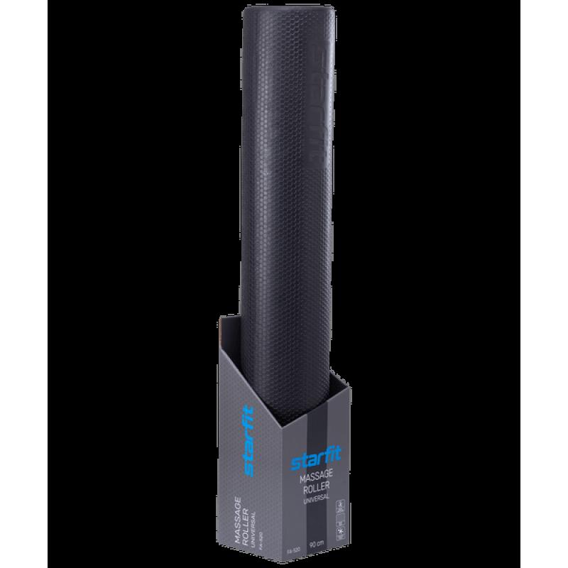 Ролик массажный STARFIT FA-520, 15x90 cм, универсальный, черный фото