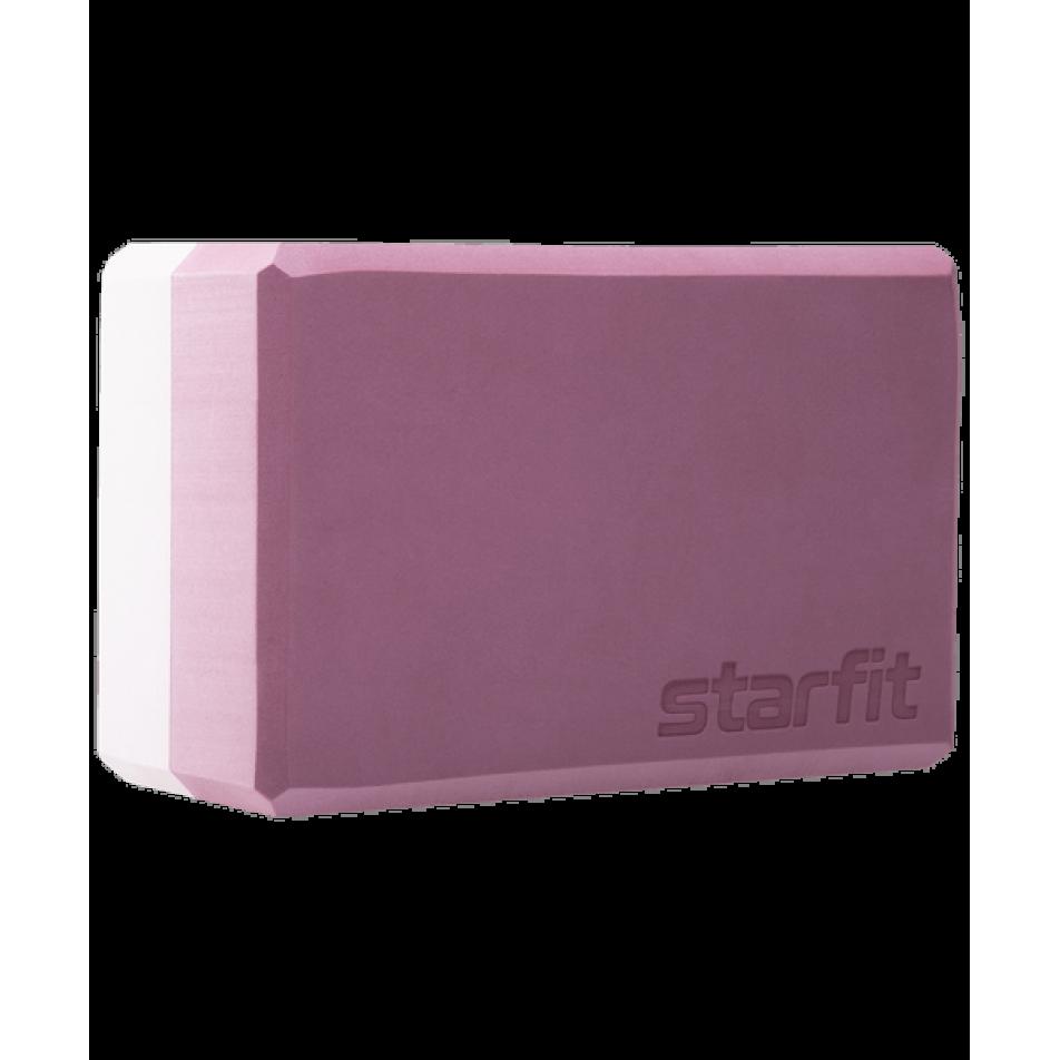 Блок для йоги YB-201 EVA, 22,8х15,2х10 см, 350 гр, пыльная розаStarfit