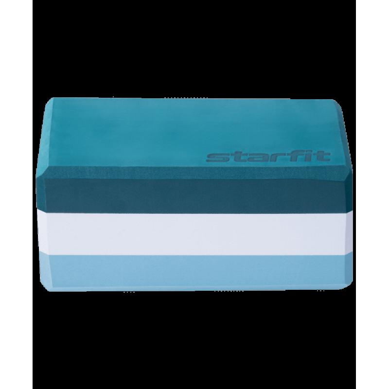 Блок для йоги YB-201 EVA, 22,8х15,2х10 см, 350 гр, изумрудная радугаStarfit фото
